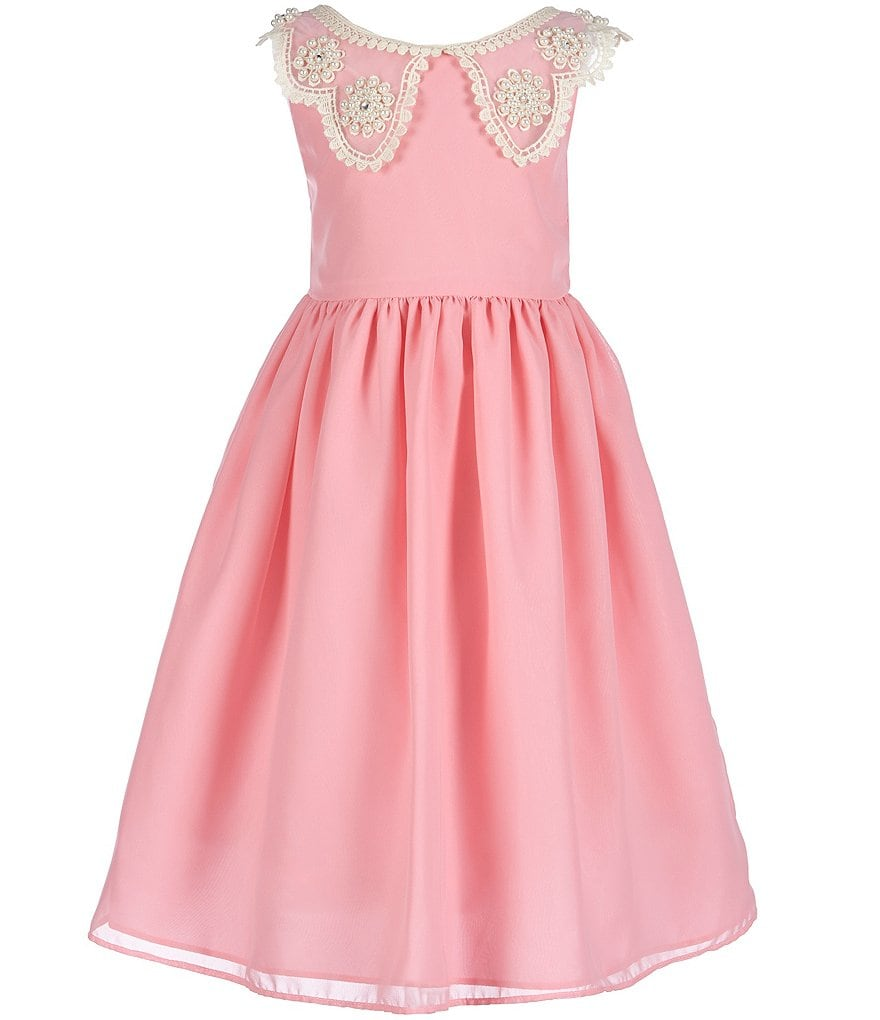Jayne Copeland Little Girls 2T-6X Faux-Pearl-Collared Dress