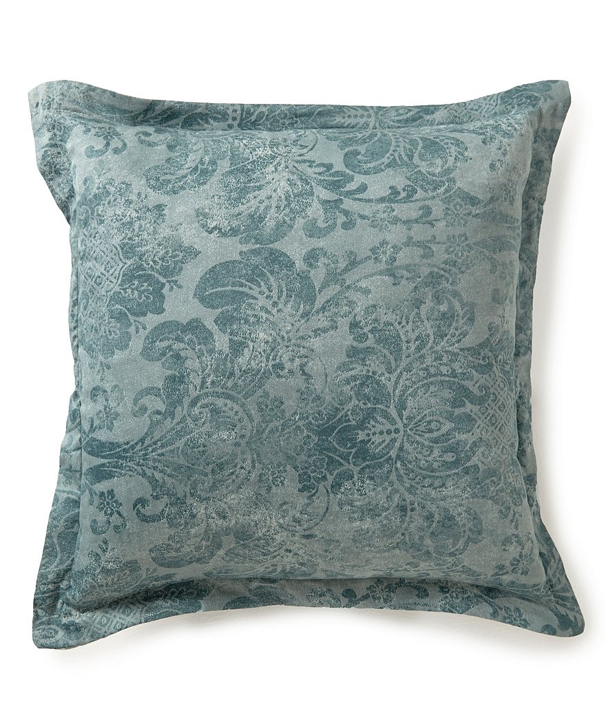 Southern Living Athena Distressed Damask Square Pillow