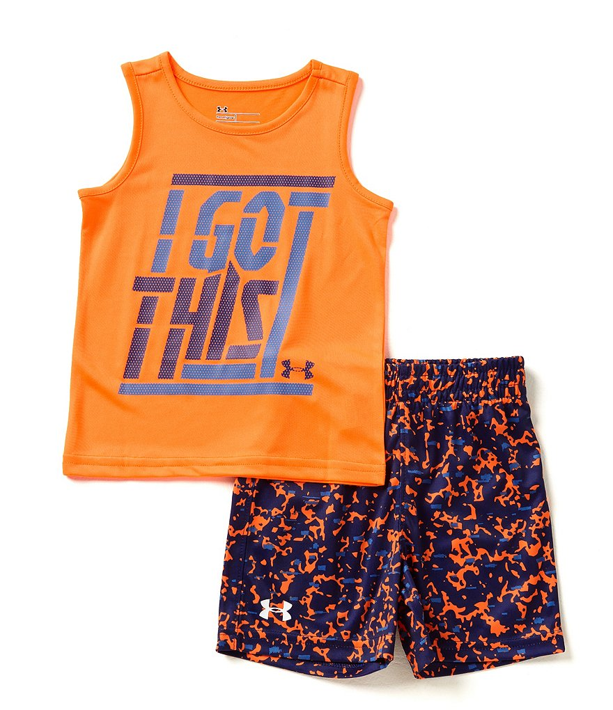 Under Armour Baby Boys 12-24 Months I Got This Muscle Tee & Printed Shorts Set