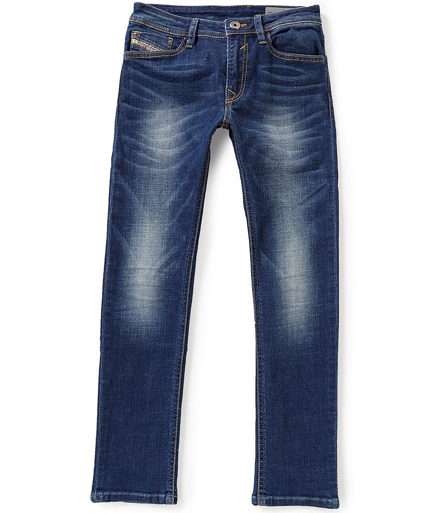 Diesel Big Boys 8-16 Faded and Whiskered Denim Jeans