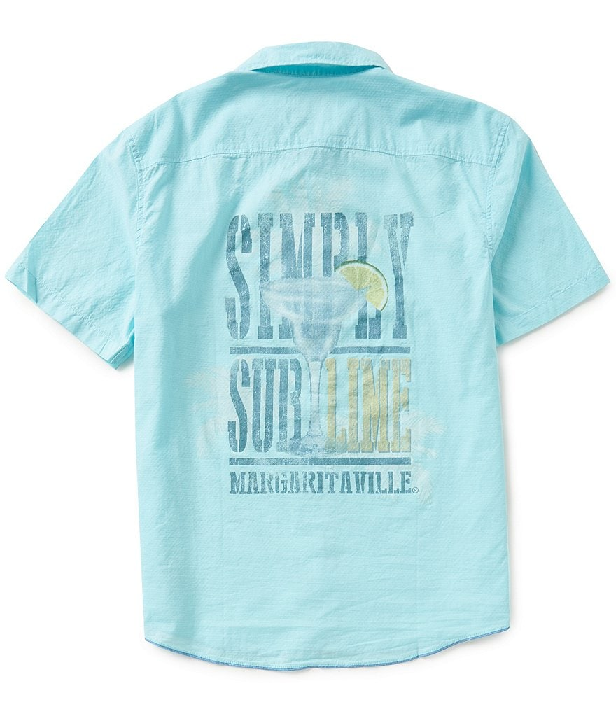 Margaritaville Short-Sleeve Simply Sublime Dobby Shirt