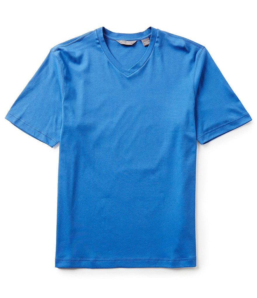Daniel Cremieux Signature Short-Sleeve Solid V-Neck Tee
