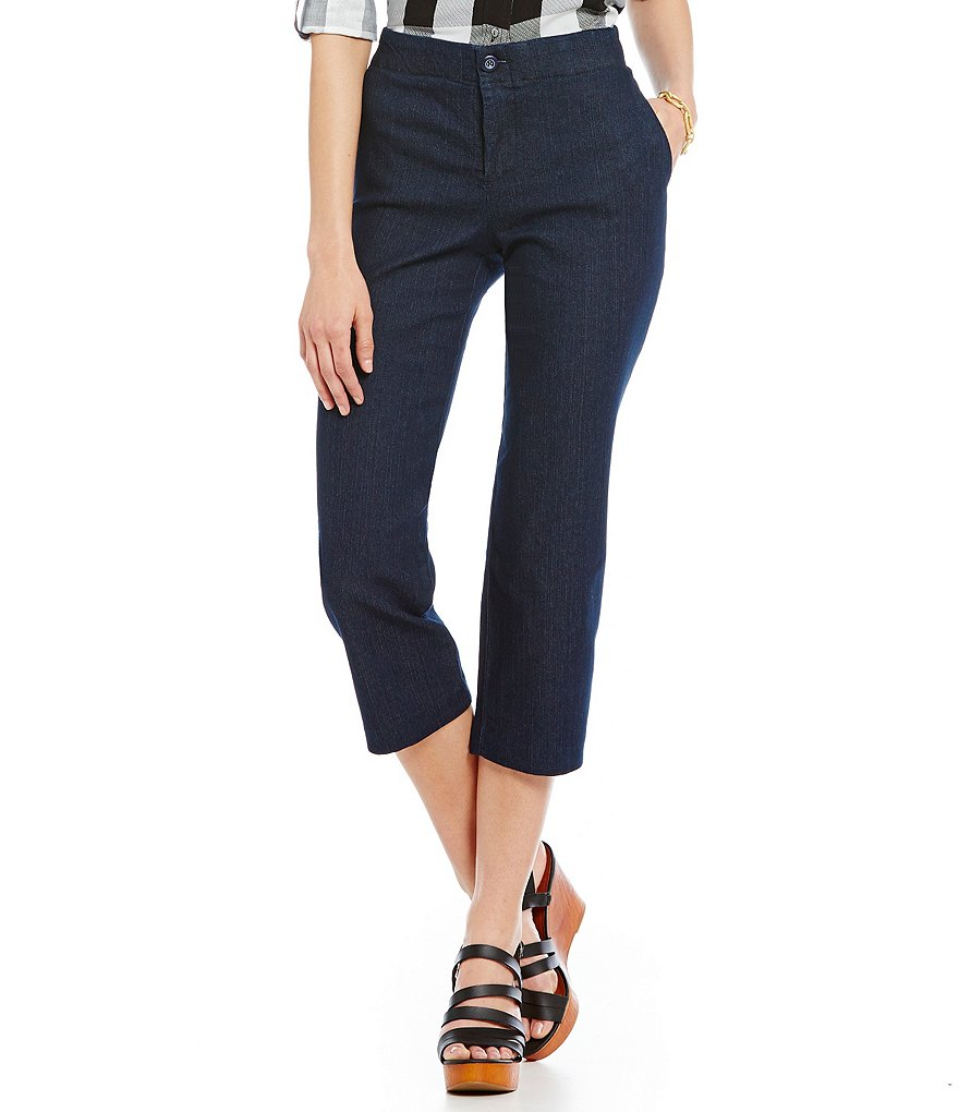 Intro Paula Denim Wide-Leg Crop Pants