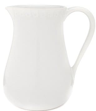 Southern Living Alexa Embossed Stoneware Pitcher