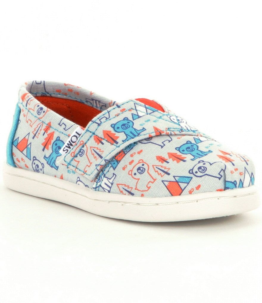 TOMS Kids' Tiny Bear-Print Alpargata Shoes