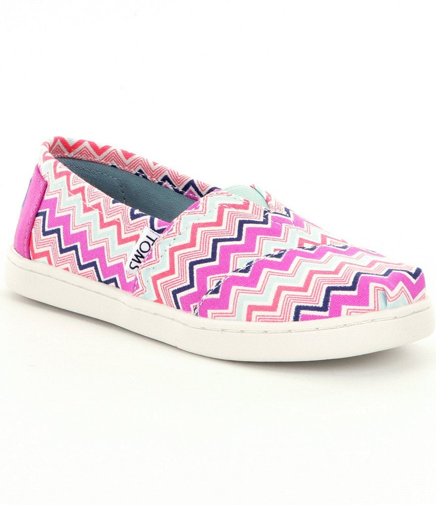 TOMS Girls´ Chevron Alpargata Shoes