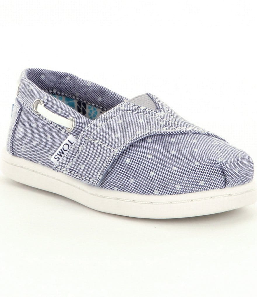 TOMS Girls´ Tiny Bimini Dotted Espadrilles