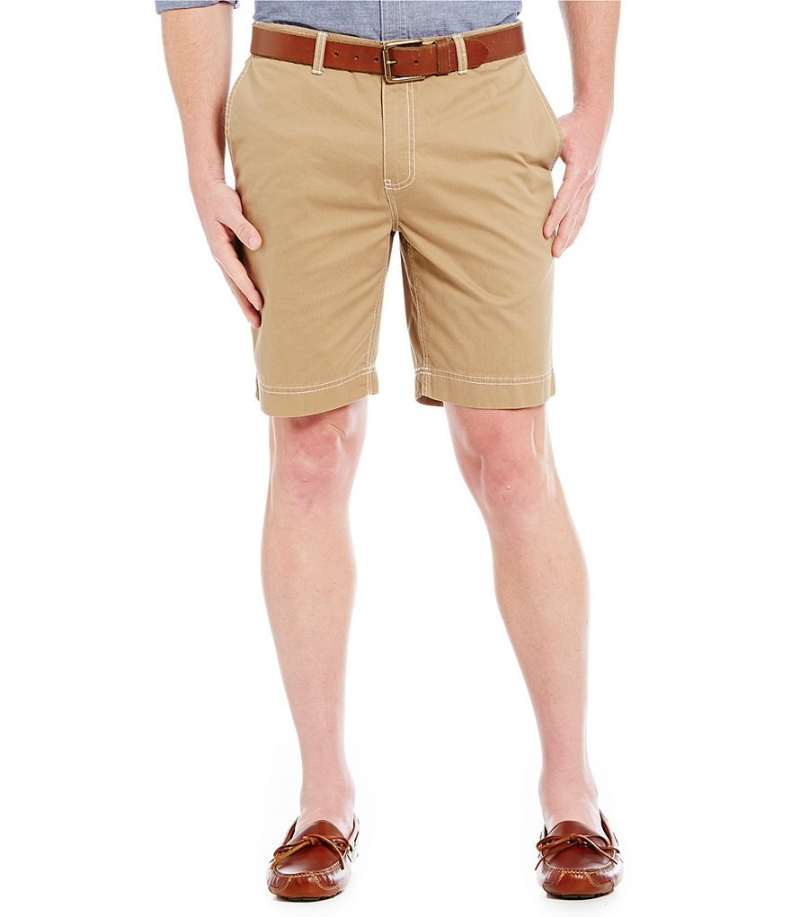 Roundtree & Yorke Flat Front Bedford Shorts