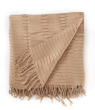 Southern Living Delta Fringed Throw