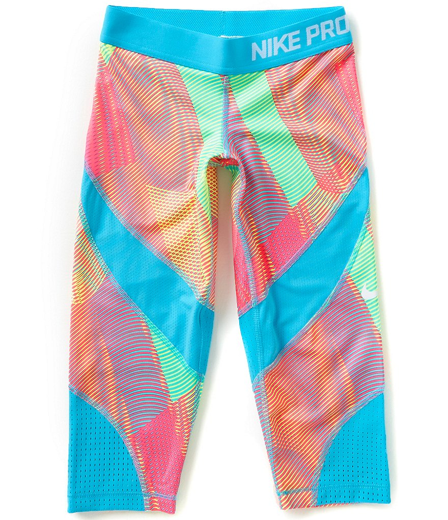Nike Big Girls 7-16 Pro Hypercool Printed Capri Pants
