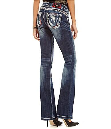 Miss Me Embellished Pocket Bootcut Jeans