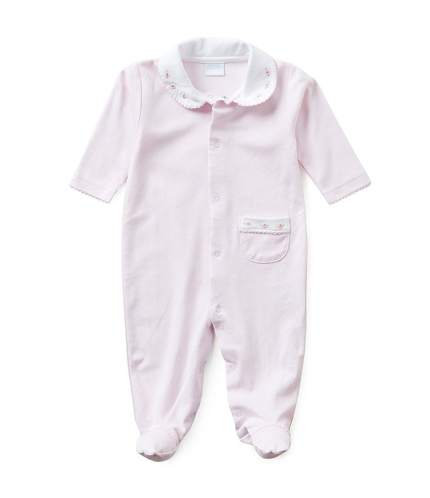 Edgehill Collection Baby Girls 0-6 Months Rosebud Coveralls