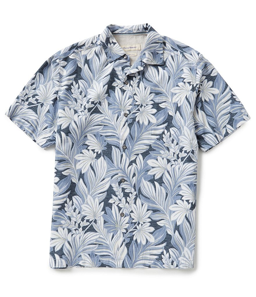 Tommy Bahama Big & Tall Short-Sleeve Garden Of Hope & Courage Woven Shirt
