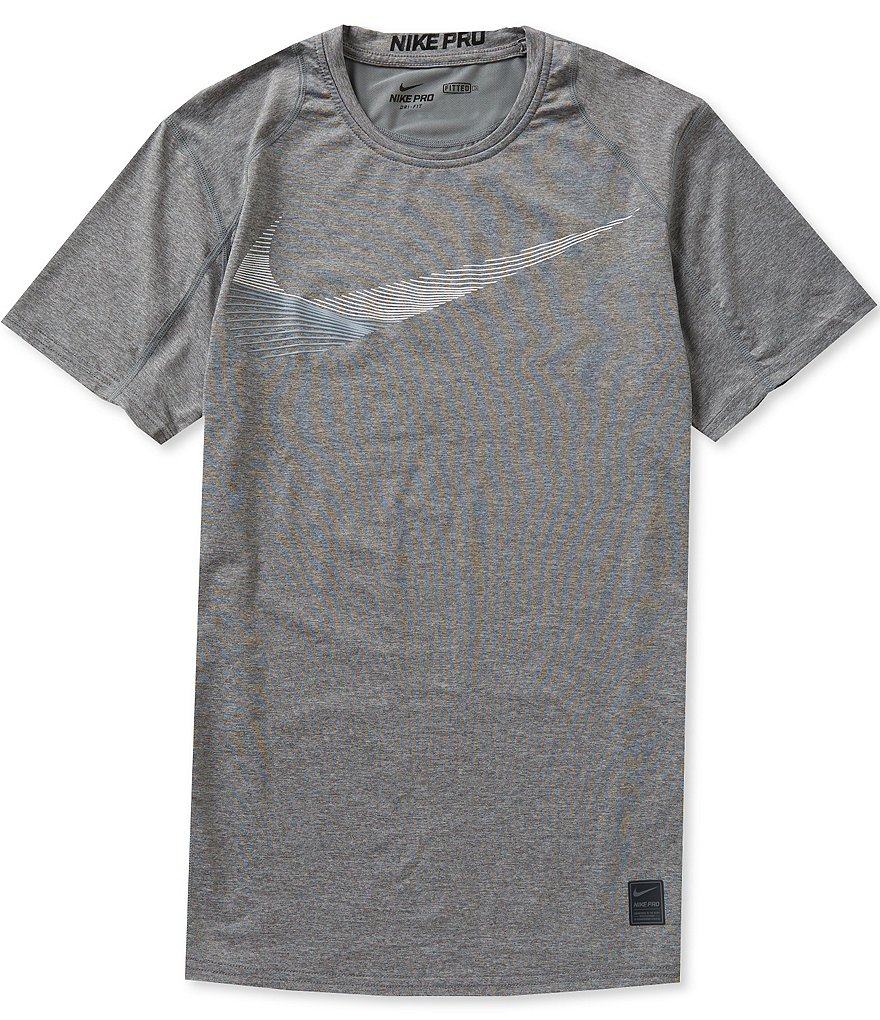 Nike Pro Cool Fitted Swoosh Graphic Tee