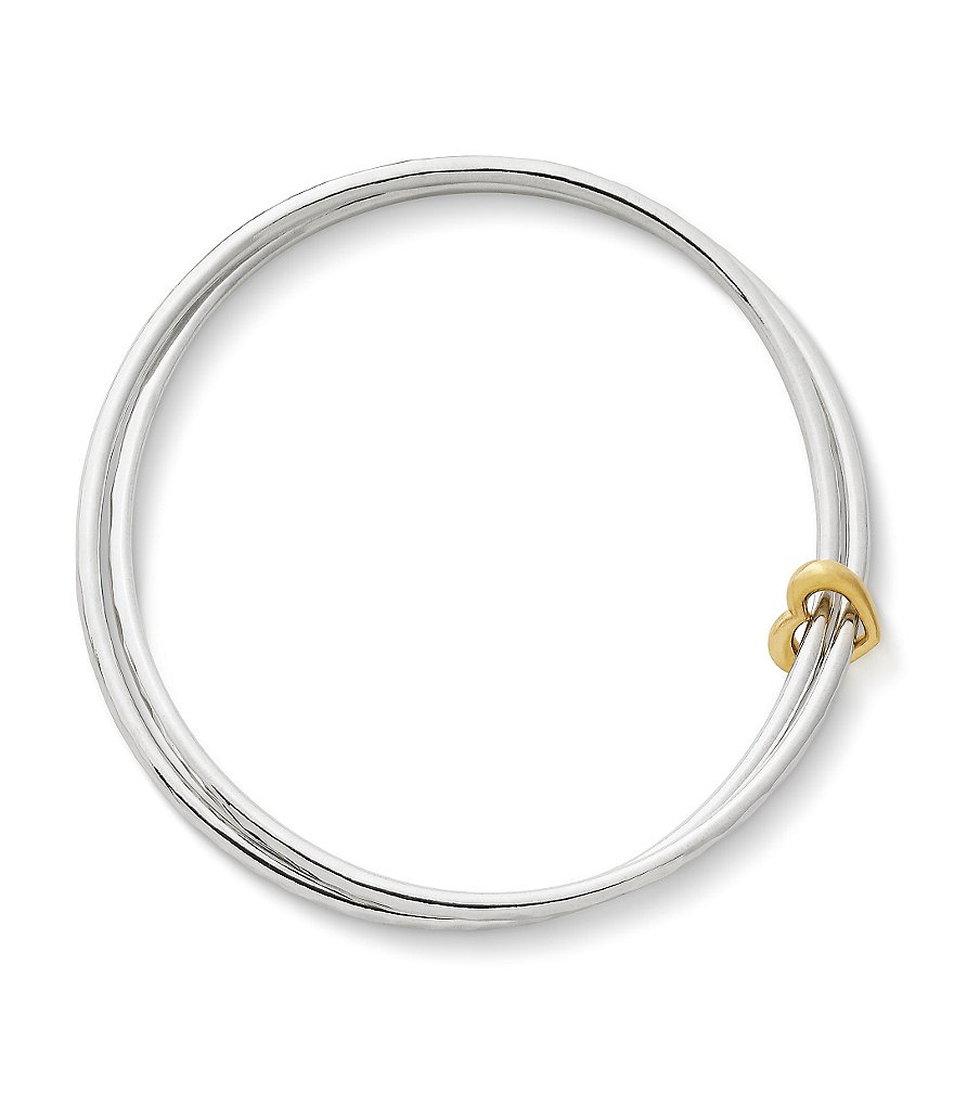 James Avery Heart of Gold Combo Bangle Bracelet