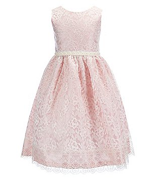 Jayne Copeland Big Girls 7-12 Sleeveless Lace-Overlay Gown