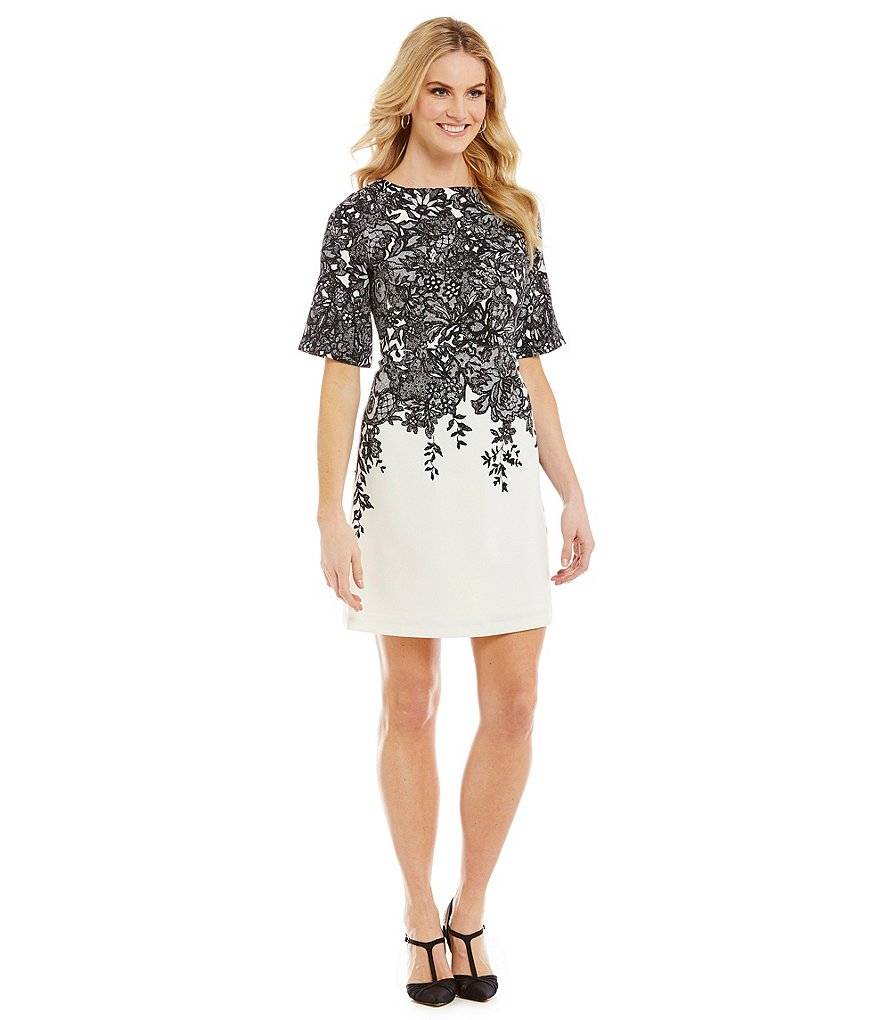 Adrianna Papell Petite Floral Printed Dress