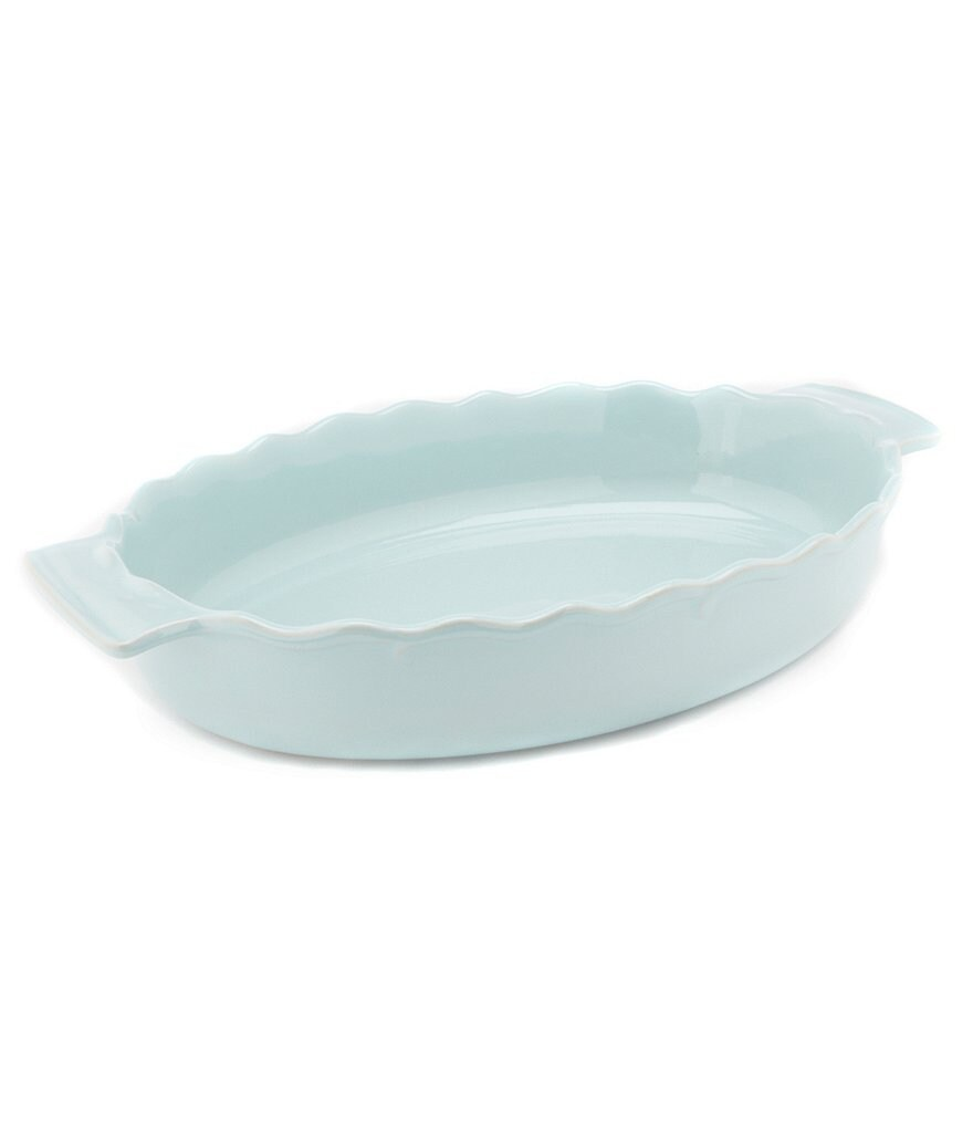 Southern Living Scalloped Stoneware Oval Baker