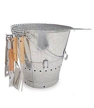 Southern Living BBQ Beach Bucket Grill Set