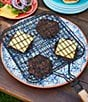 Color:Black - Image 2 - Southern Living BBQ Burger Basket with Recipes