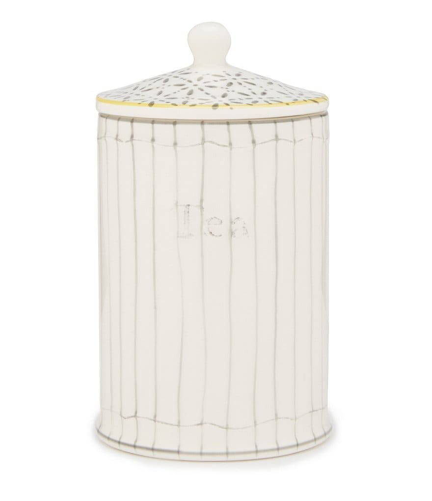 Southern Living Tea Striped Canister with Lid