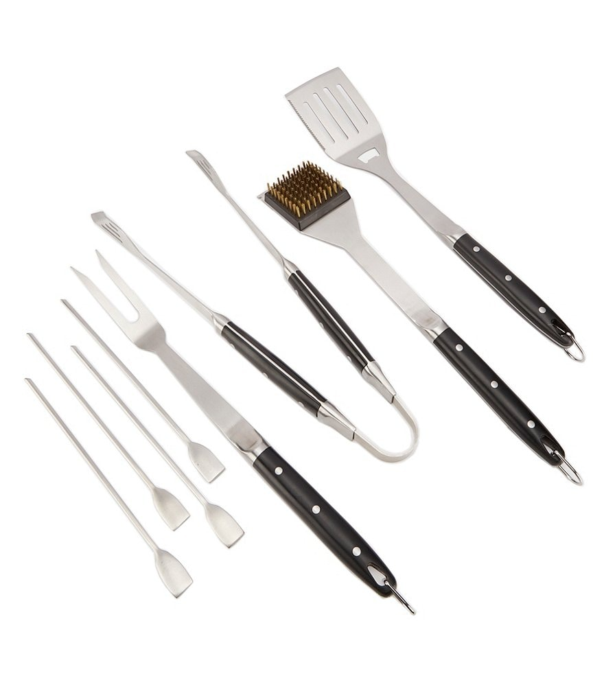 Southern Living Set of 8 BBQ Tools with Carrying Case