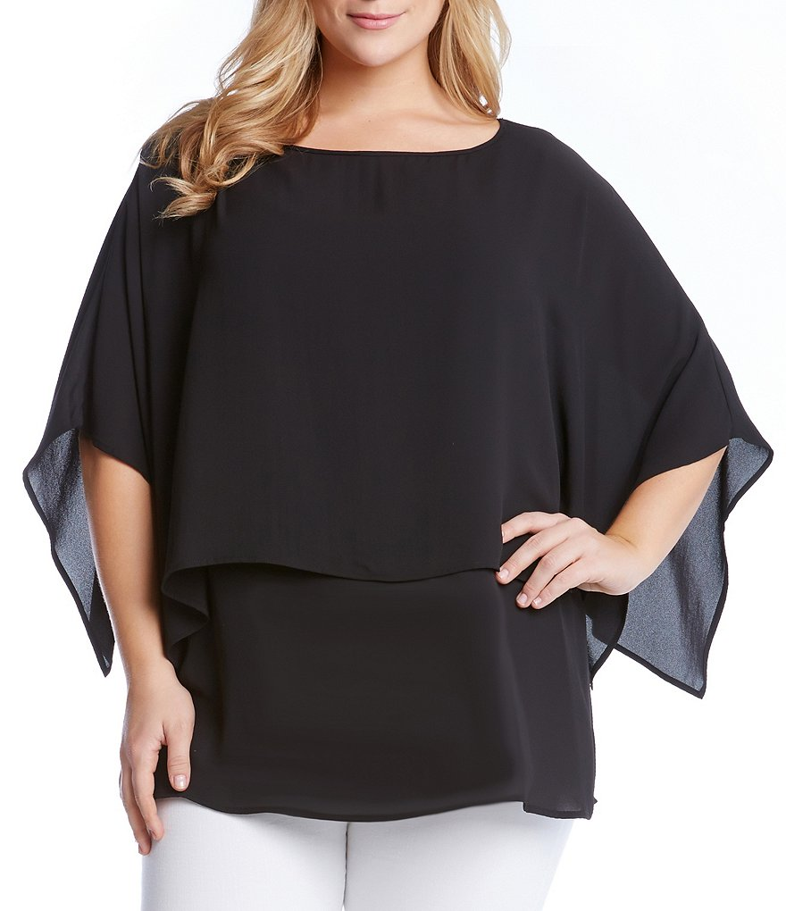 Karen Kane Plus Double Layer Top