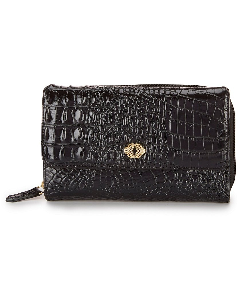 Kate Landry Works Hornback Croco-Embossed Wallet