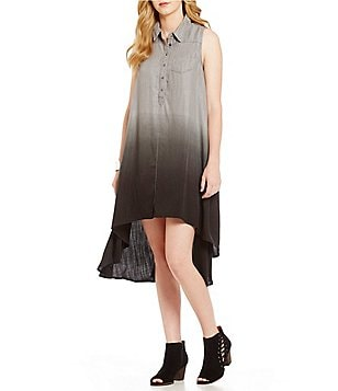 Chelsea & Theodore Ombre Shirt Dress
