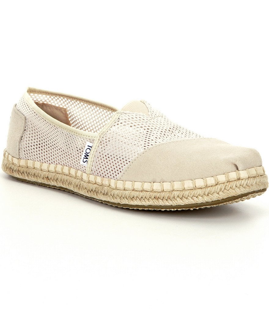 TOMS Seasonal Mesh & Suede Alpargata Slip-On Shoes