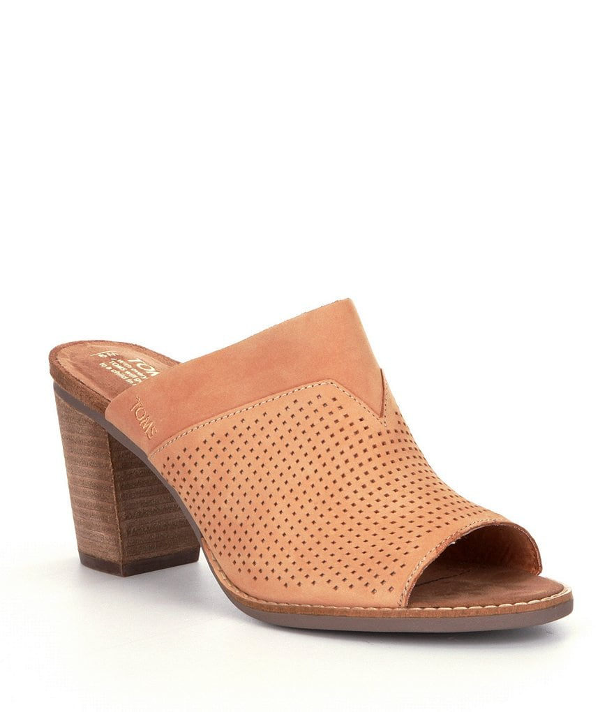 TOMS Majorca Perforated Peep Toe Mules