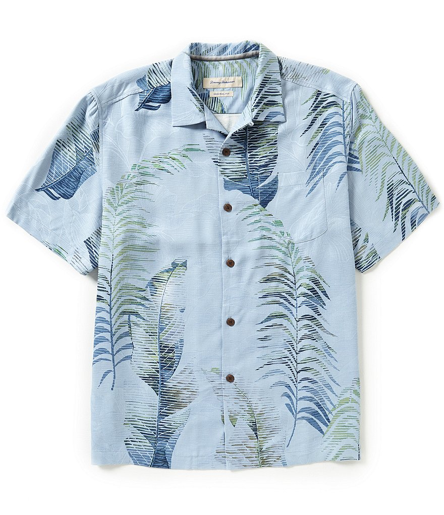 Tommy Bahama Big & Tall Short-Sleeve Frond Demand Silk Woven Shirt