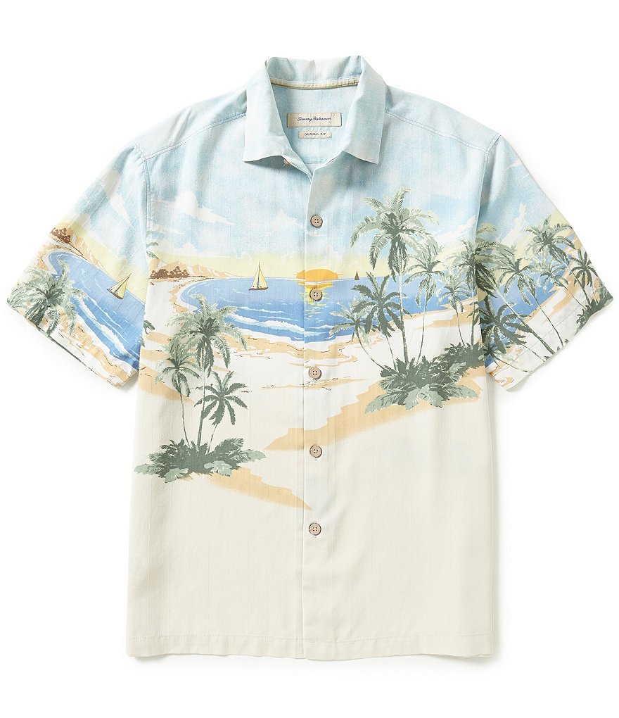 Tommy Bahama Big & Tall Short-Sleeve Sunscape Isle Silk Woven Shirt
