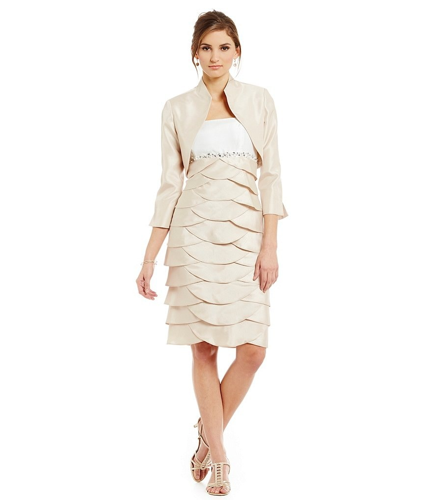 Jessica Howard Artichoke Jacket Dress