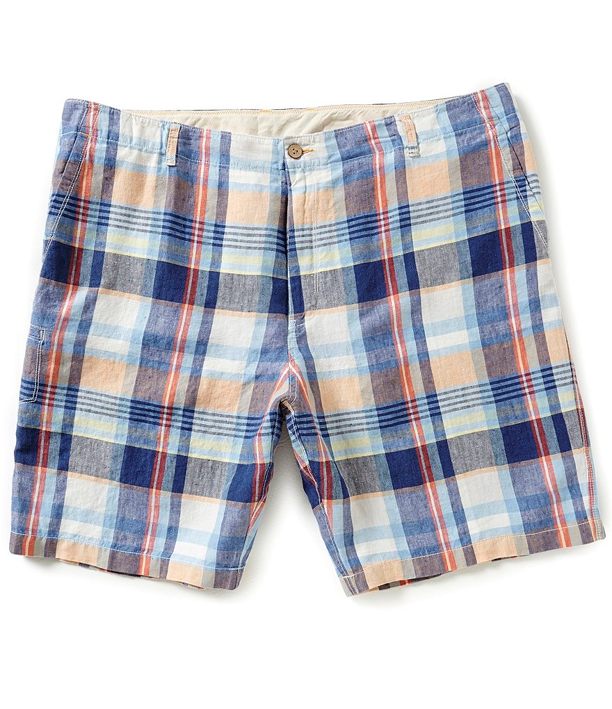 Tommy Bahama Big & Tall Madras To The Max Plaid Shorts