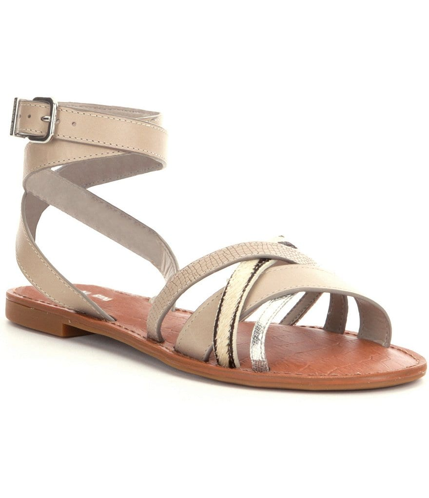 Gianni Bini Saffari Ankle Strap Haircalf Sandals