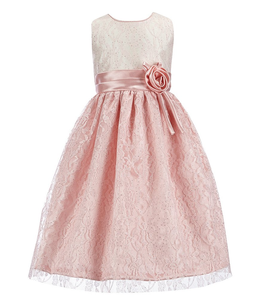 Jayne Copeland Little Girls 2T-6X Lace Colorblocked Gown
