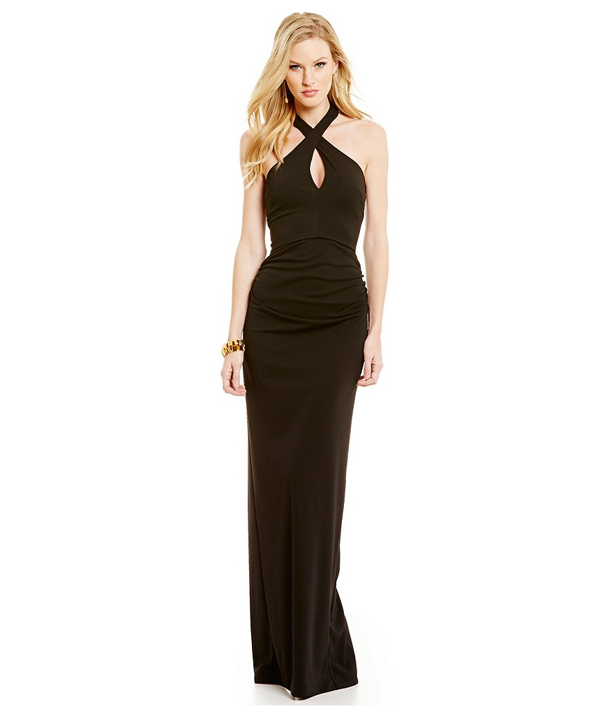 Nicole Miller Collection Loretta Halter Neck Gown