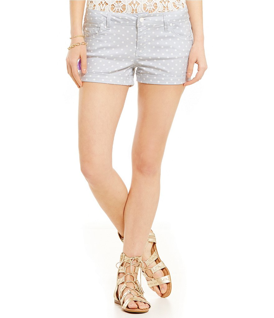 Celebrity Pink Dotted Twill Shorts