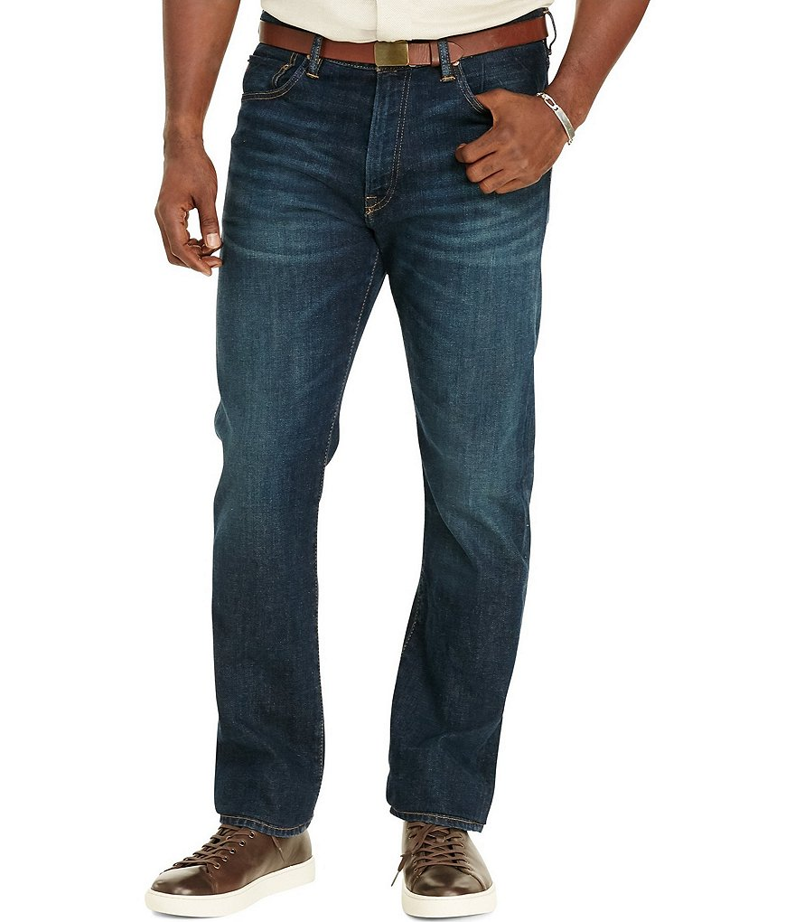 Polo Ralph Lauren Big & Tall Hampton Straight-Fit Davis-Wash Stretch Jeans