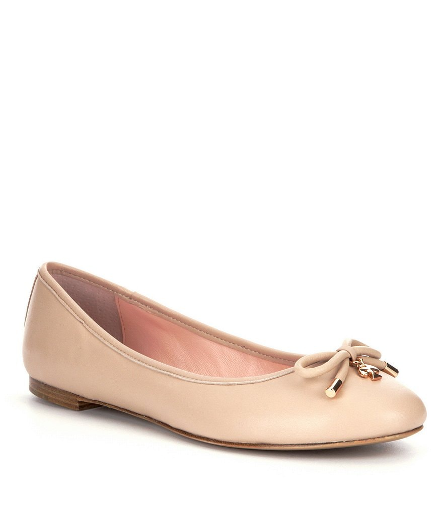 kate spade new york Willa Bow Detail Leather Flats
