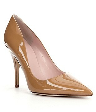 kate spade new york Licorice Patent Leather Pointed-Toe Pumps