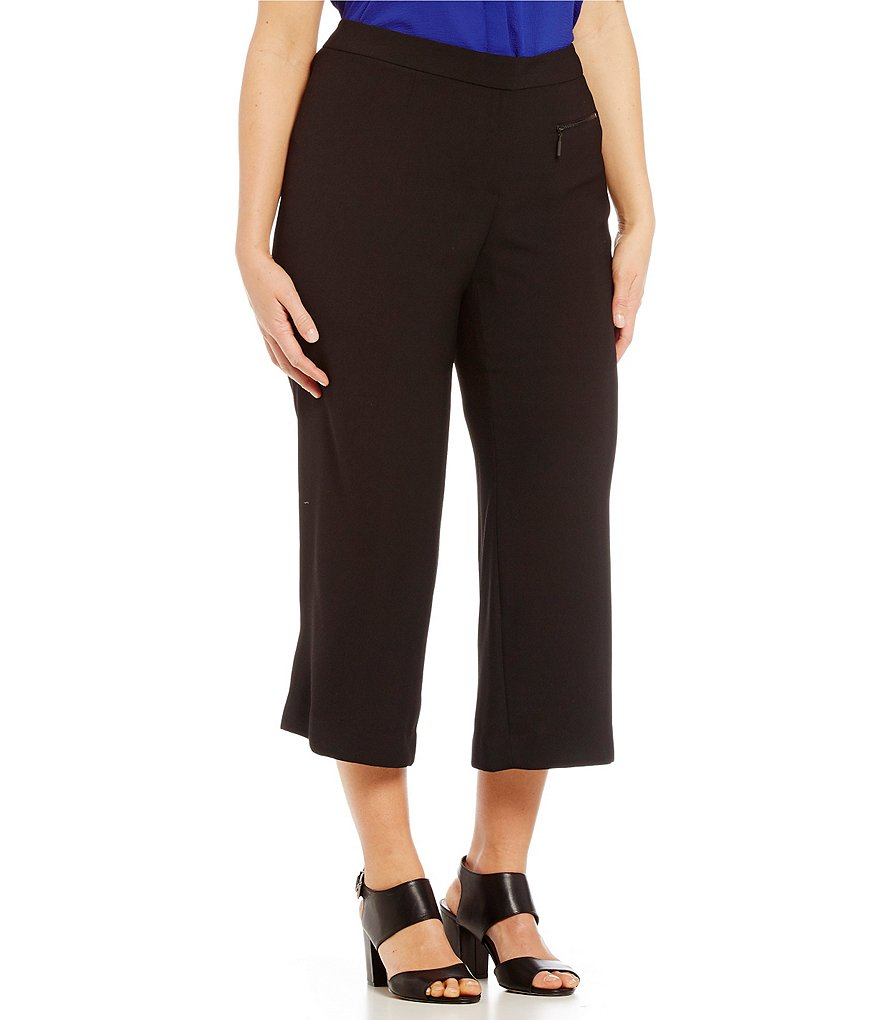 Vince Camuto Plus Zip Pocket Culottes