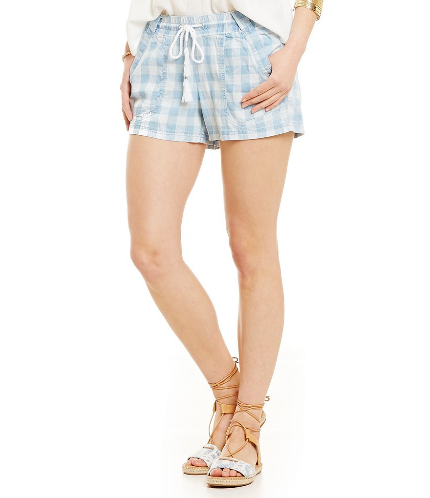 Jolt Gingham Chambray Sailor Shorts