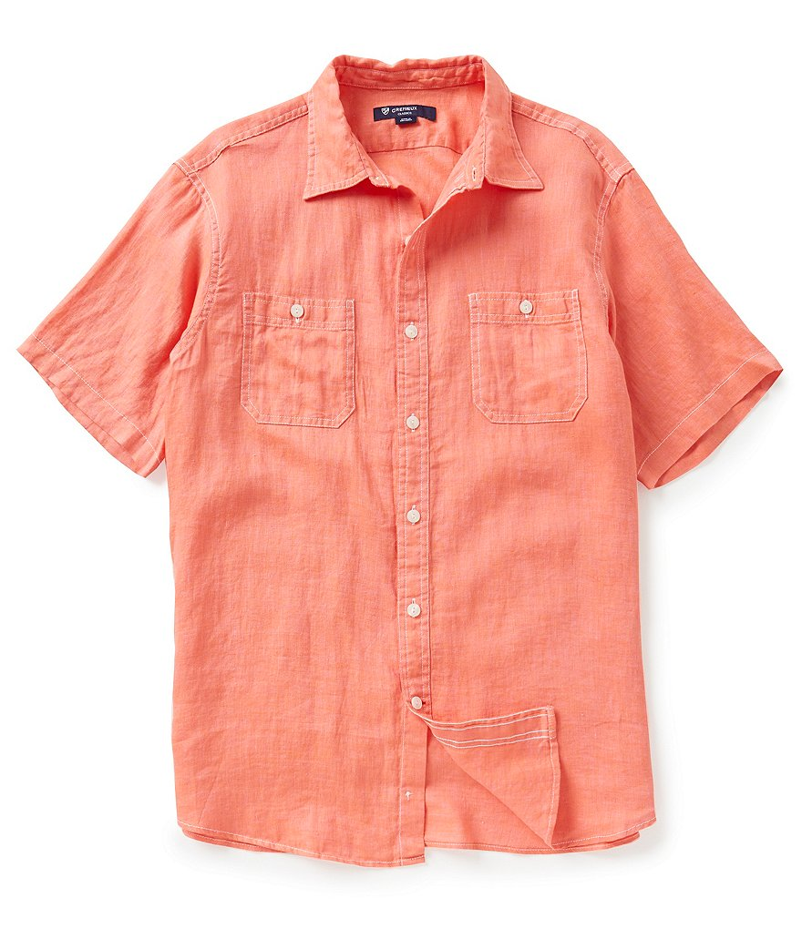 Cremieux Big & Tall New Hunter Linen Shirt