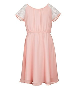 Soulmates Big Girls 7-16 Lace Inset A-Line Dress