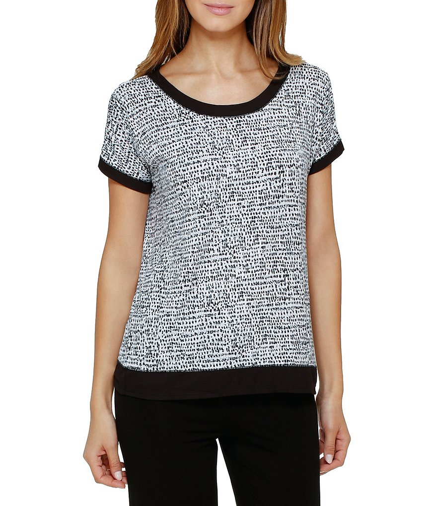 DKNY Printed Jersey Blend Sleep Top
