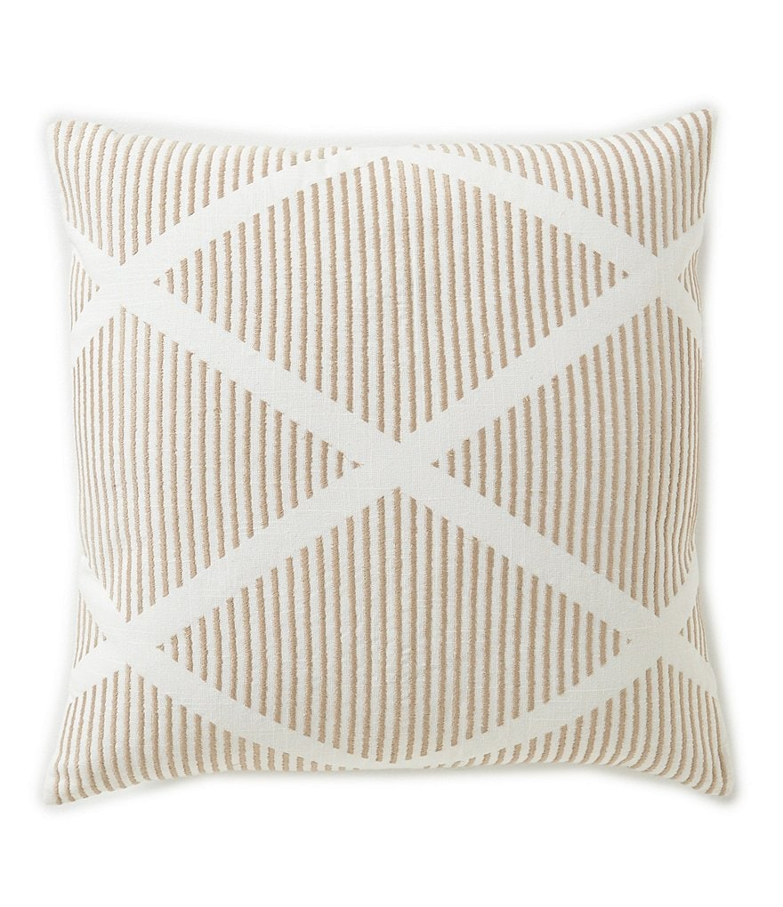 Noble Excellence Naturals Anna Striped Square Pillow