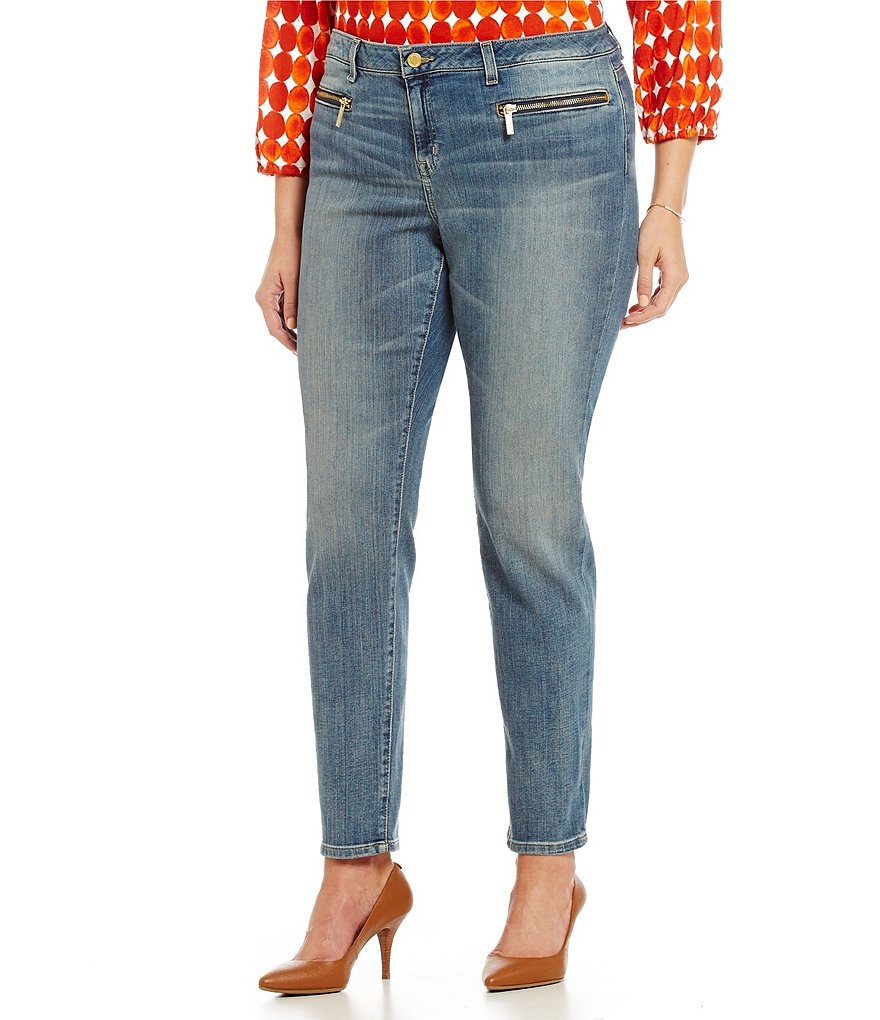 MICHAEL Michael Kors Plus Zip Pocket Skinny Jeans