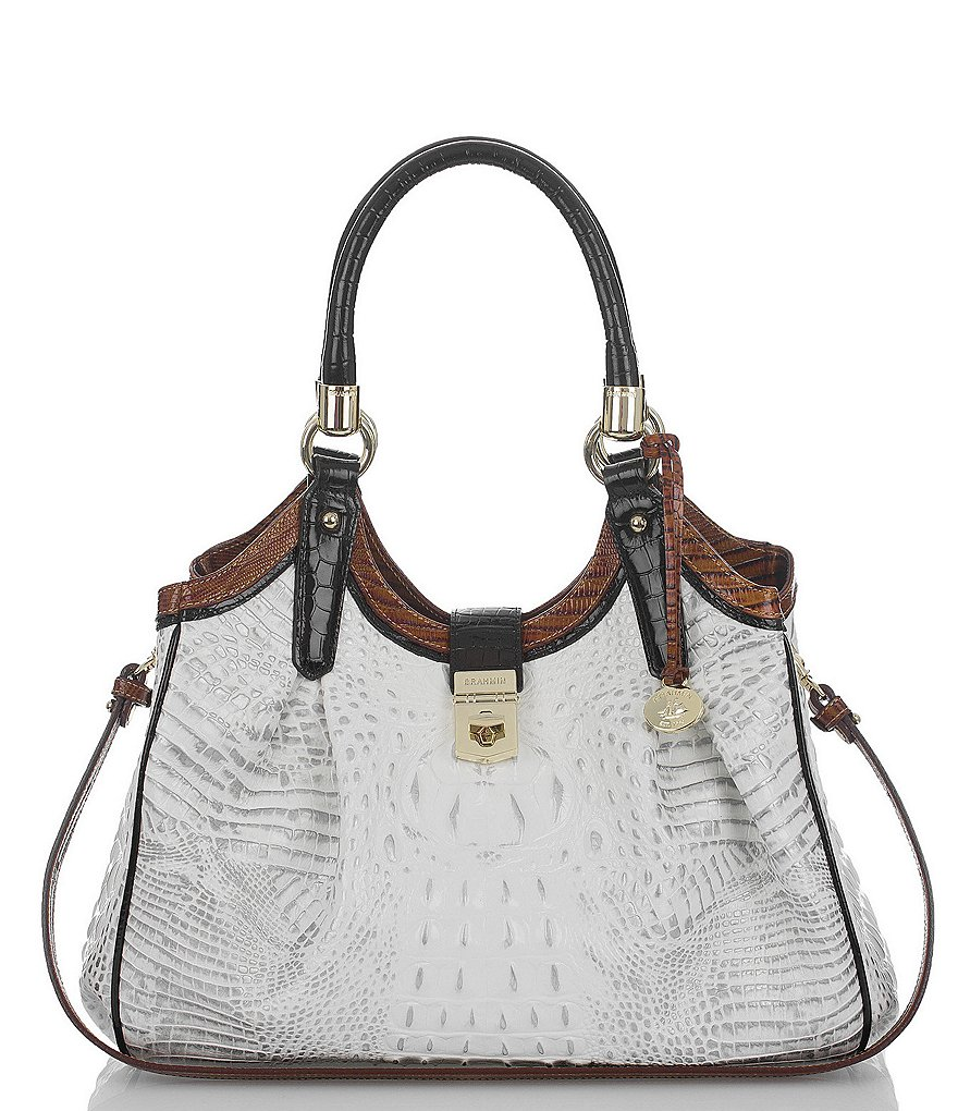 Brahmin Amado Collection Elisa Croco-Embossed Hobo Bag